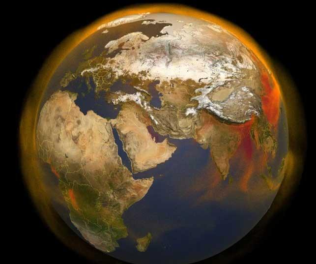 نقشه متان در جو زمین