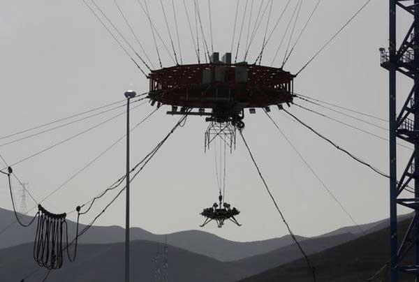 سامانه آزمایش فرود مریخنشین چین
