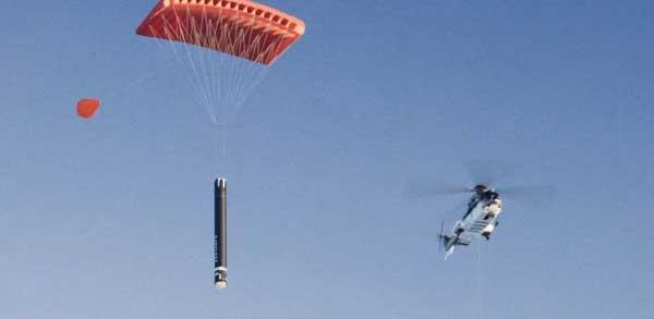 بازیابی موشک الکترون توسط بالگرد