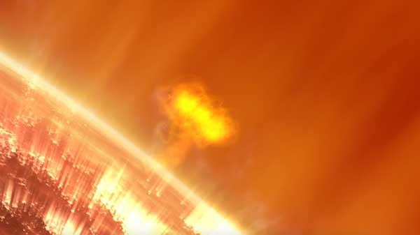طوفان خورشیدی بسیار بزرگ