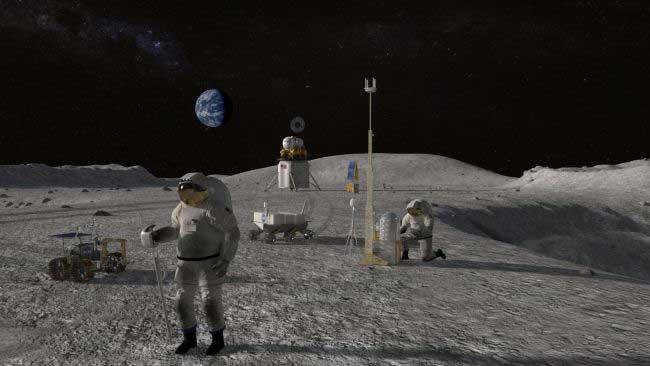 پایگاه ناسا روی ماه