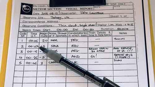 ثبت رصد و گزارش رصد