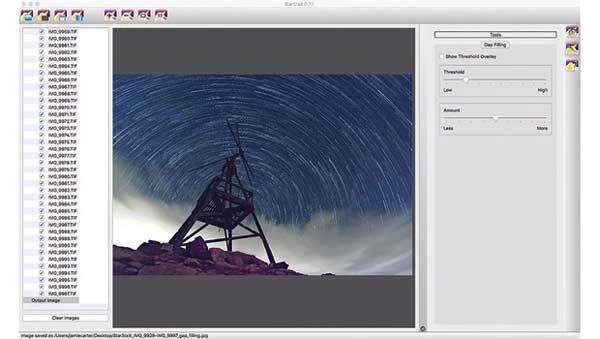 عکاسی نجومی رد ستارهای استفاده از StarStax