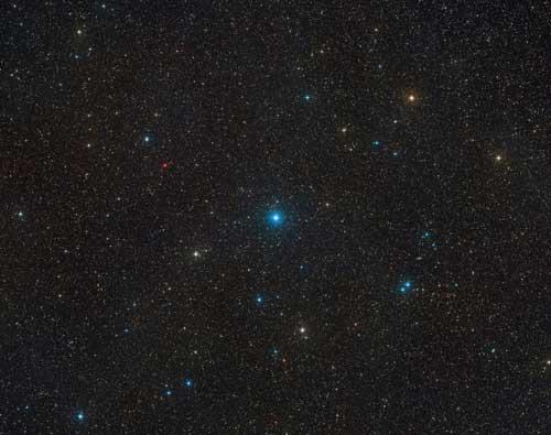 نمای باز از محلی که منظومه HR6819 قرار دارد.