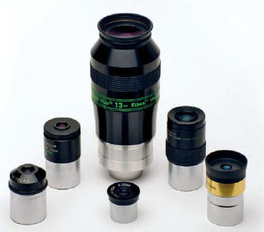 شش نوع چشمی مختلف تلسکوپ