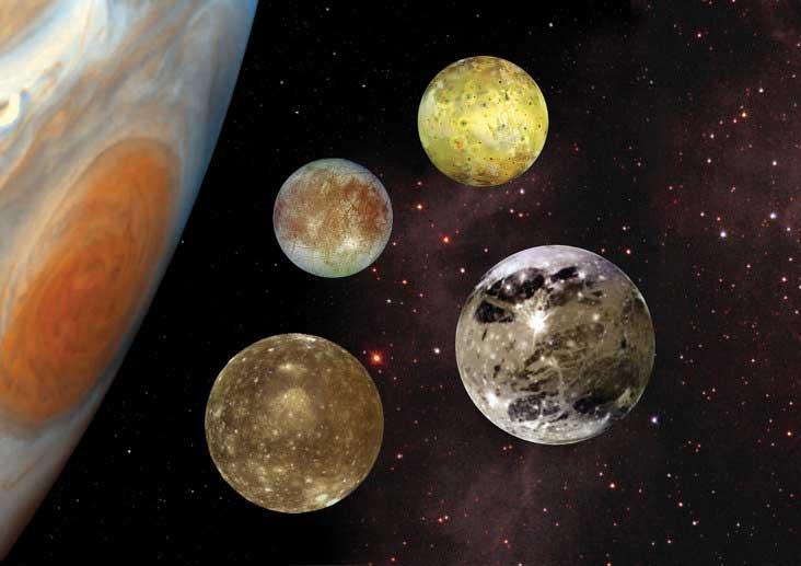 قمرهای منظومه شمسی مشتری گالیله