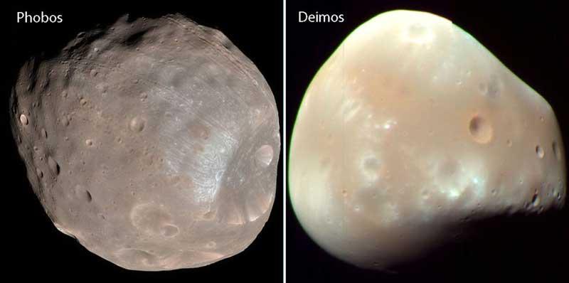 قمرهای منظومه شمسی مریخ فوبوس و دایموس