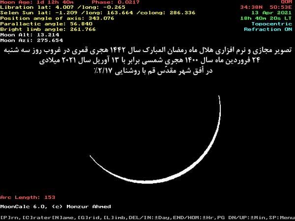 رویت هلال رمضان 1442