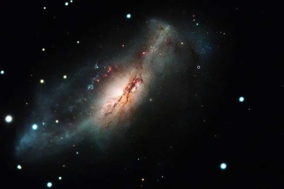 کهکشان NGC2146 و ابرنواختر جدید SN2018zd
