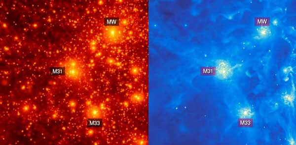 تولد ستاره در کهکشان اقماری